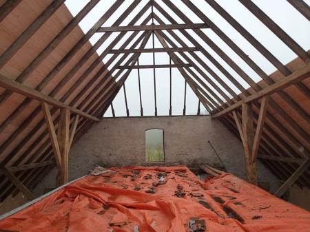 schuttekamp verbouw dak binnenkant